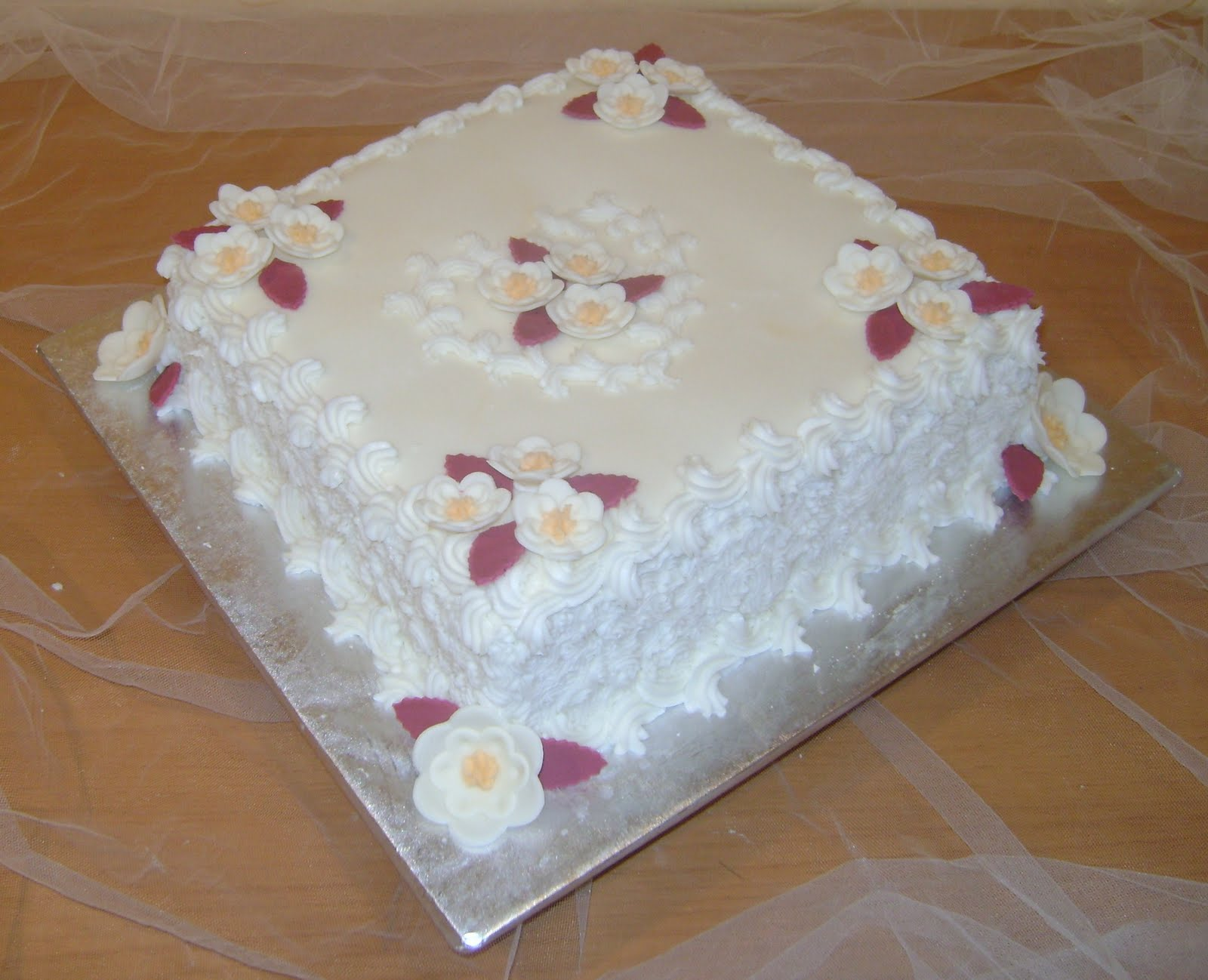 Birthday Cake Designs In Square : Marilyn s Caribbean Cakes: Heart on Square Cake