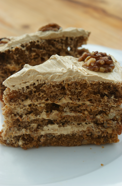 Recipe Coffee Walnut Cake Delia Smith
