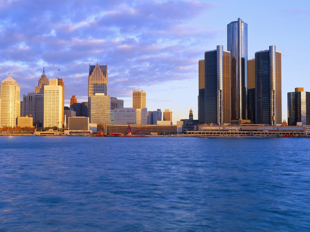detroit at sunrise michigan wallpapers - Wallpaper detroit at sunrise michigan Wallpapers HD