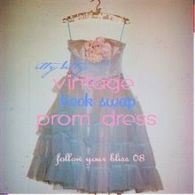 Vintage Prom Dress...Itty Bitty Book