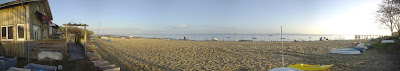 Panoramic view of the Grand Piquey beach in Cap Ferret
