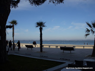 View from the restaurant Cafe de la Plage in Arcachon
