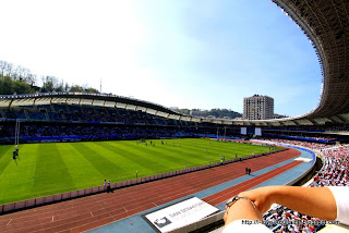 The rugby stadium in San Sebastian