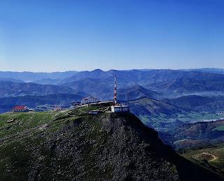 rhune mountain in Pyrenees Atlantiques in France