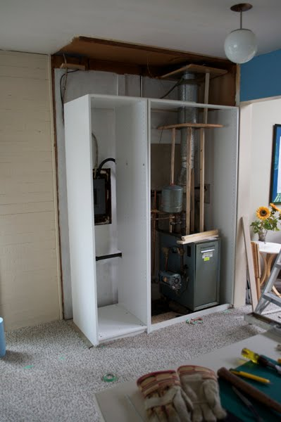 Cabinet to hide the boiler and fuse box — LiveModern: Your Best Modern HomeLiveModern