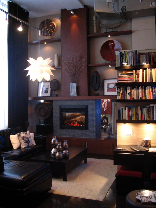 IKEA Hack Fireplace with Shelving