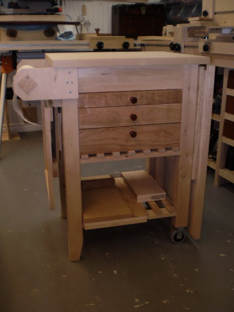 Fold up workshop for Bekvam kitchen cart