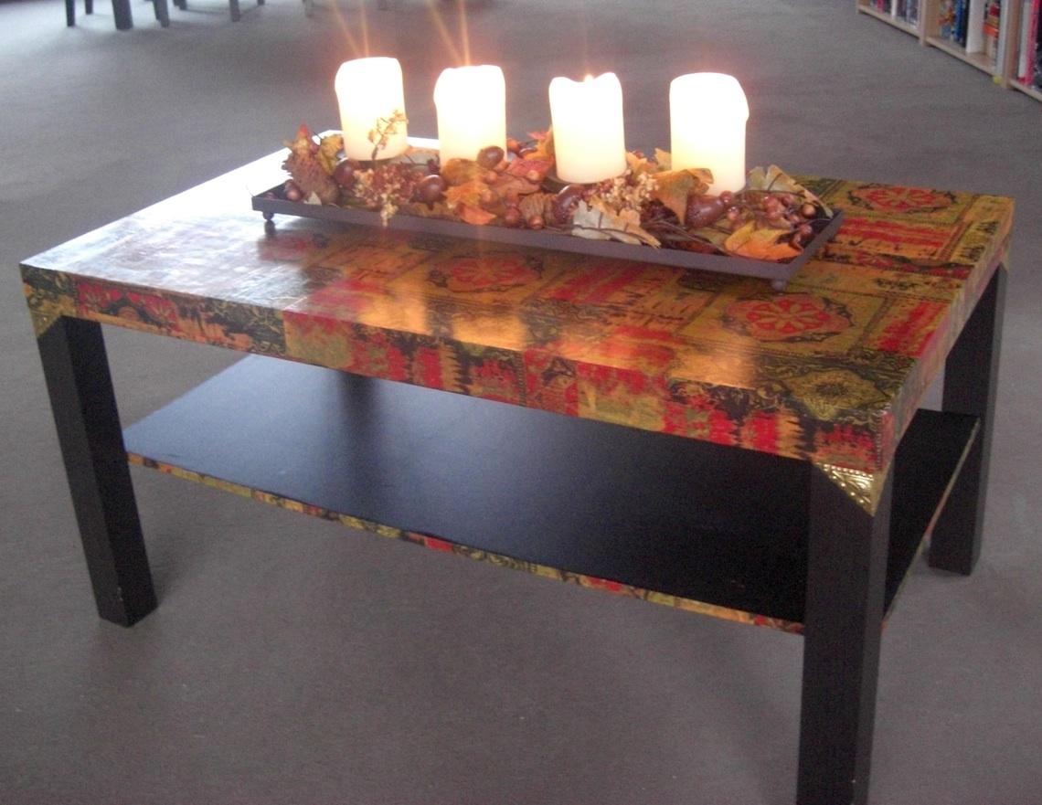 Как декорировать старый стол своими руками 872