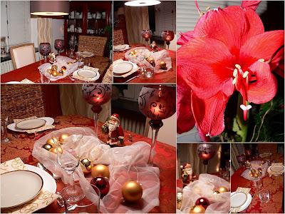 trets welt o mundo da trets tischdeko in rot gold zum weihnachten. Black Bedroom Furniture Sets. Home Design Ideas