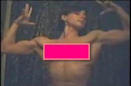 nude girl flexing