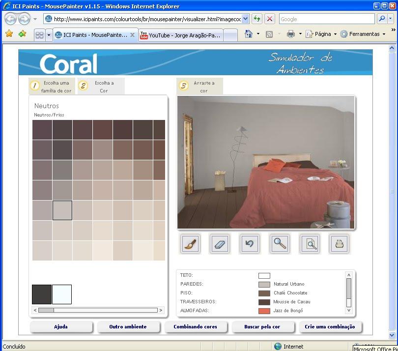 Tintas coral simulador o simulador de ambientes para sua for Simulador de ambientes 3d