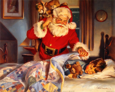sample page from  THE NIGHT BEFORE CHRISTMAS Illustrated by Tom Browning