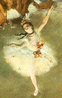 ドガ「舞台の踊り子」
