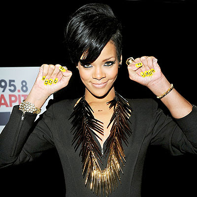 fresh nail designs: cool rihanna nails designs