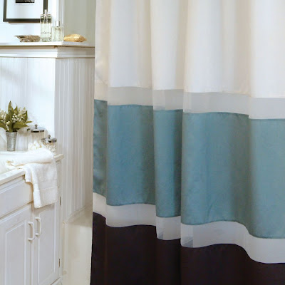 Bring A Simple Elegant Look To Your Bathroom DCcor With The Beverly Glen Marin Aqua Chocolate Shower Curtain Make This Complete