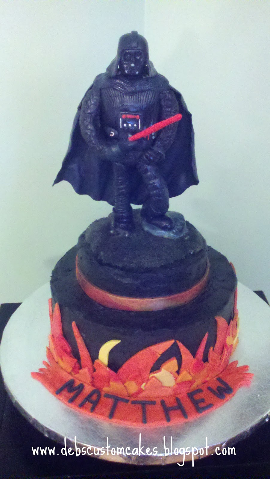 Debs Custom Cakes Darth Vader Cake