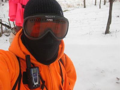 david wirth, dressed to stay warm in west virginia, ski mask, googles