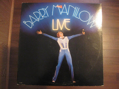 barry manilow live, record, album cover, melting records