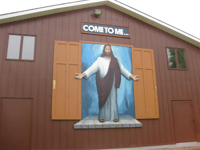 funny church, jesus sign, come to me