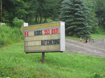funny sign, kidds butchering