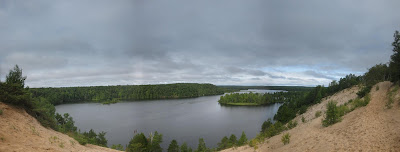 panorama, au sable river, lumbermans monument, sand dunelumbermans