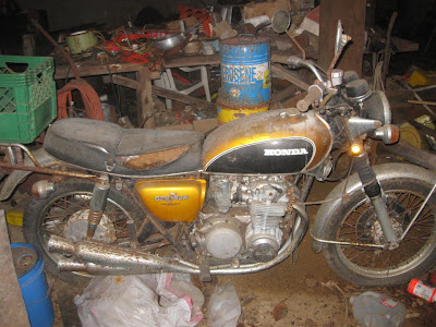 1972 honda cb500 found in an abandoned house in jackson michigan