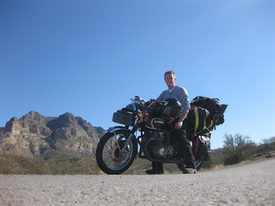 arizona motorcycle ride, mountains, honda motorcycle