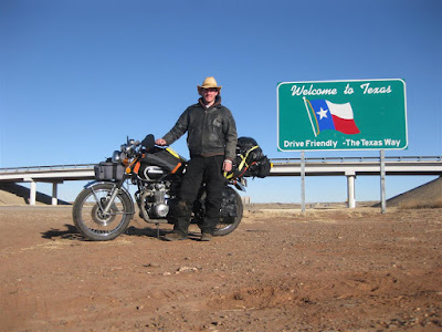 texas state line, sign, highway, motorcycle ride, cross country trip