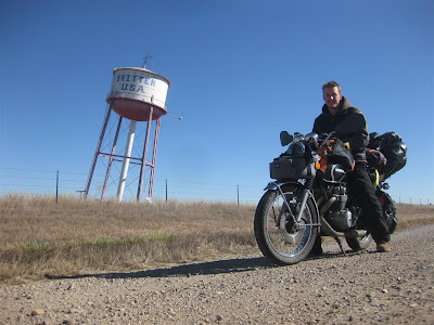 britten USA, leaning water tower, cross country trip