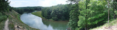 wide river view of the manistee national forest and river