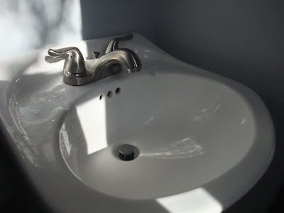 new install, bathroom faucet, looks great, how to