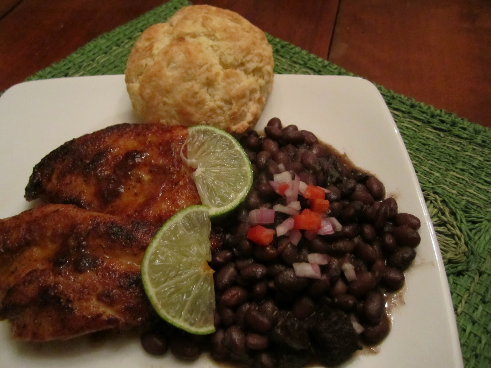 The Irish Mother: Spicy Garlic Lime Chicken and Cuban Black Beans