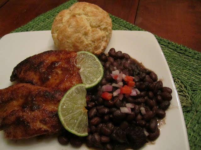 Recipe Spicy Garlic Lime Chicken and Cuban Black Beans by The Irish ...