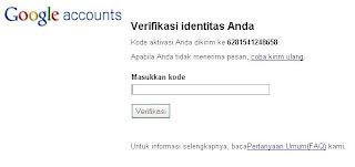 Kode aktifasi email