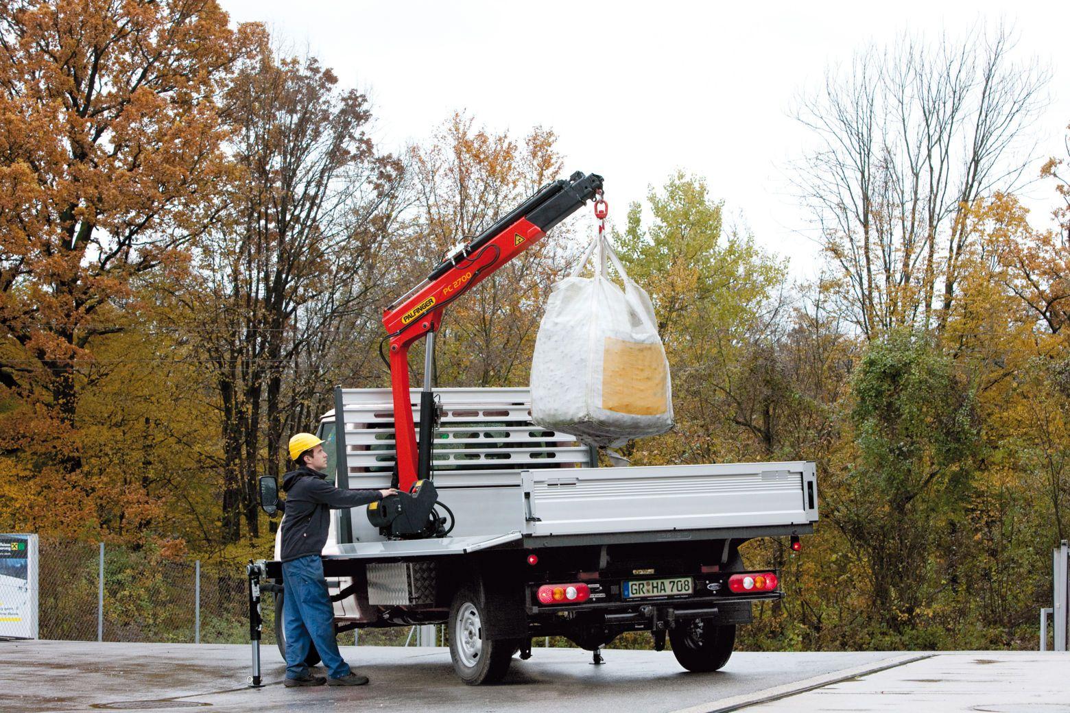 Small Knuckle Boom Crane : Commercial truck success palfinger north america