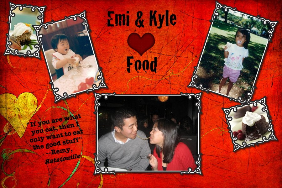 Emi and Kyle Heart Food