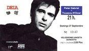 Peter Gabriel. Velódromo de Anoeta, Donostia, 27 de septiembre de 1987