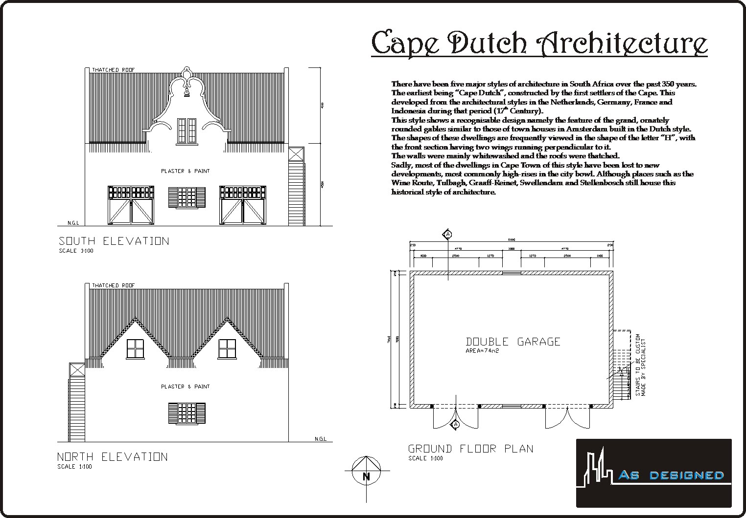 Type of house cape dutch for Cape style floor plans