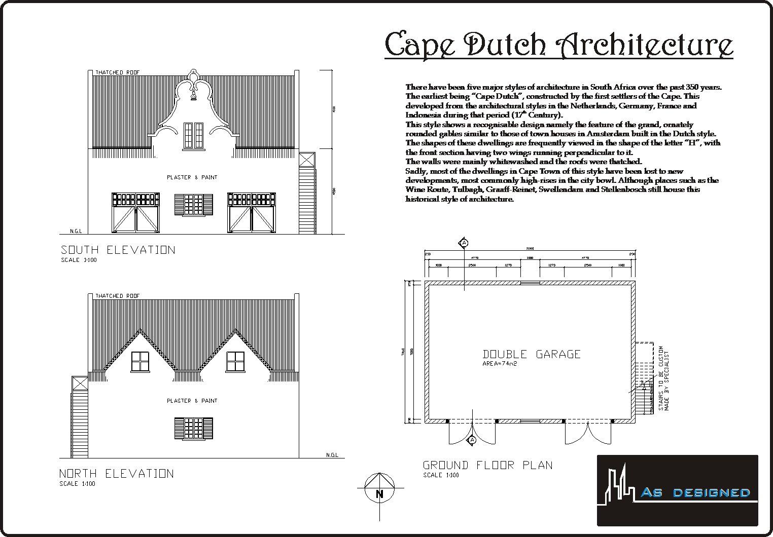 Type of house cape dutch for Cape floor plans