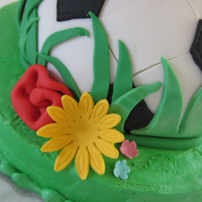soccer ball cake. First soccer ball cake
