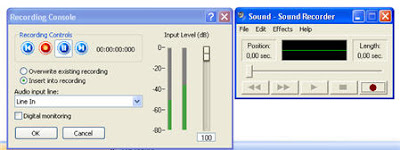 recorders nero and sound recorder from windows