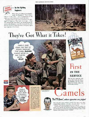Camel Cigarette Ad - US ARMY Fighting Engineers
