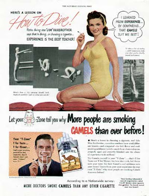 Camel Cigarette Ads - Diving Star JIM FAIRBROTHER