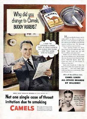 Camel Cigarette Ad - BUDDY ROGERS