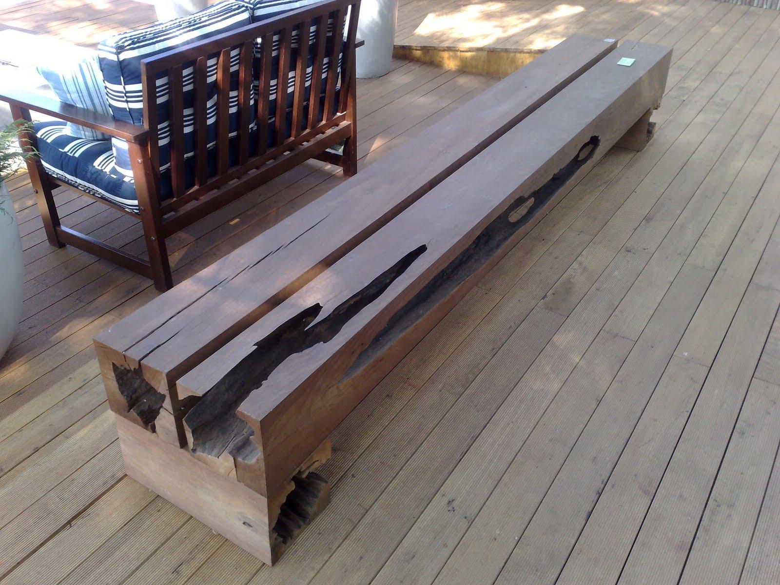 Studio GUX Design Sustentável: Banco em madeira de demolição design #3B6390 1600x1200