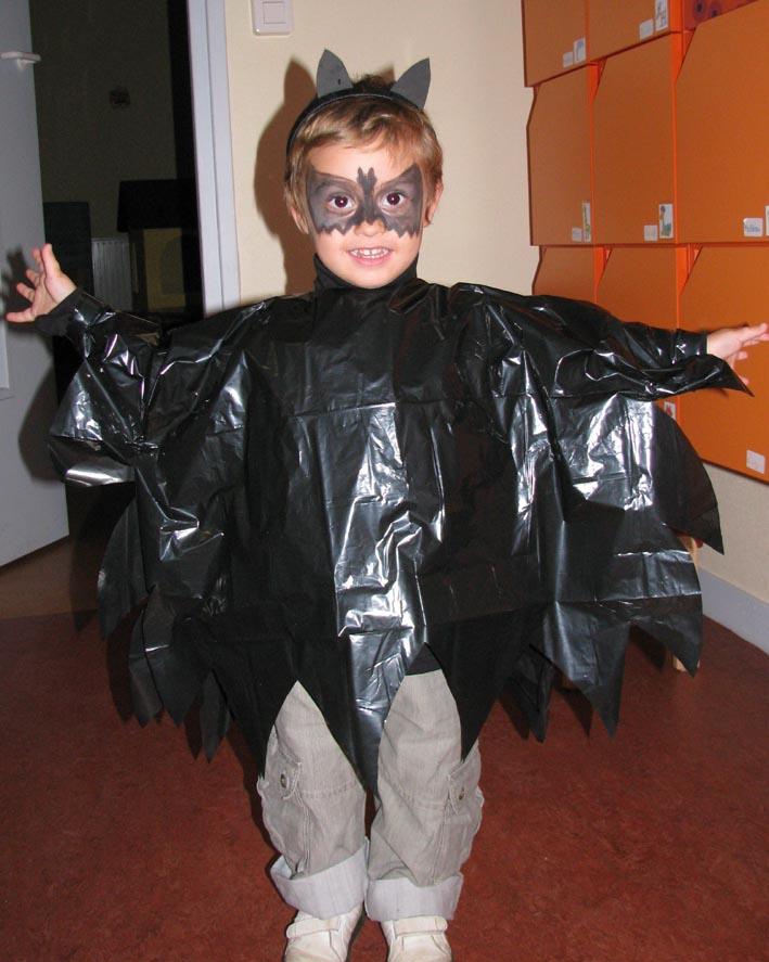 Costume de chauve souris - Deguisement sac poubelle ...
