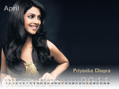 Desktop Calendar Wallpaper on Wallpaper Collections  Priyanka Chopra Desktop Calendar 2011