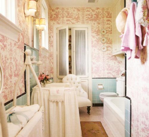 Pink Grasscloth Wallpaper: Pink Bathroom Wallpaper 2017
