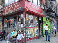 Regulars at the Mars Bar in the East Village