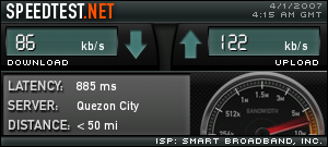 Smartbro Wireless Internet Broadband Speed Test